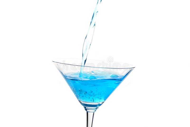 Vidrio con el coctel azul 2 fotografía de archivo libre de regalías