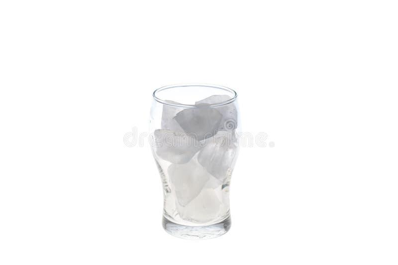 Vidrio con el cubo de hielo foto de archivo libre de regalías