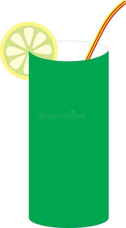 Vidrio con el limón ilustración del vector