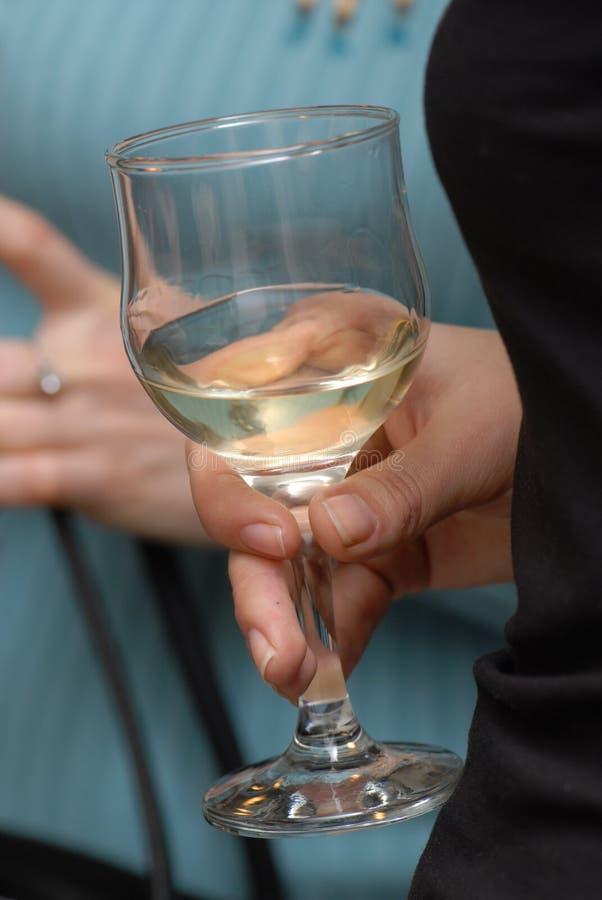 Vidrio con el vino. imagen de archivo