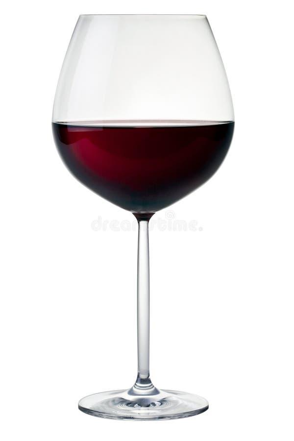 Vidrio con el vino rojo foto de archivo libre de regalías