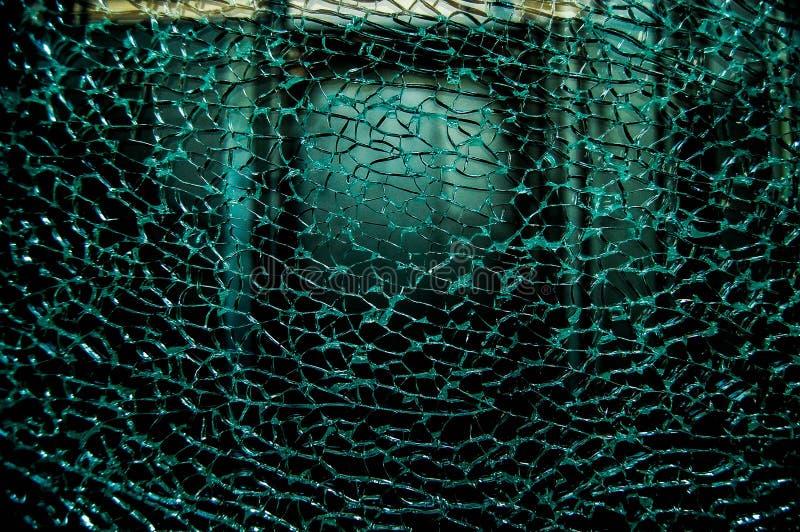 Vidrio dañado quebrado foto de archivo libre de regalías