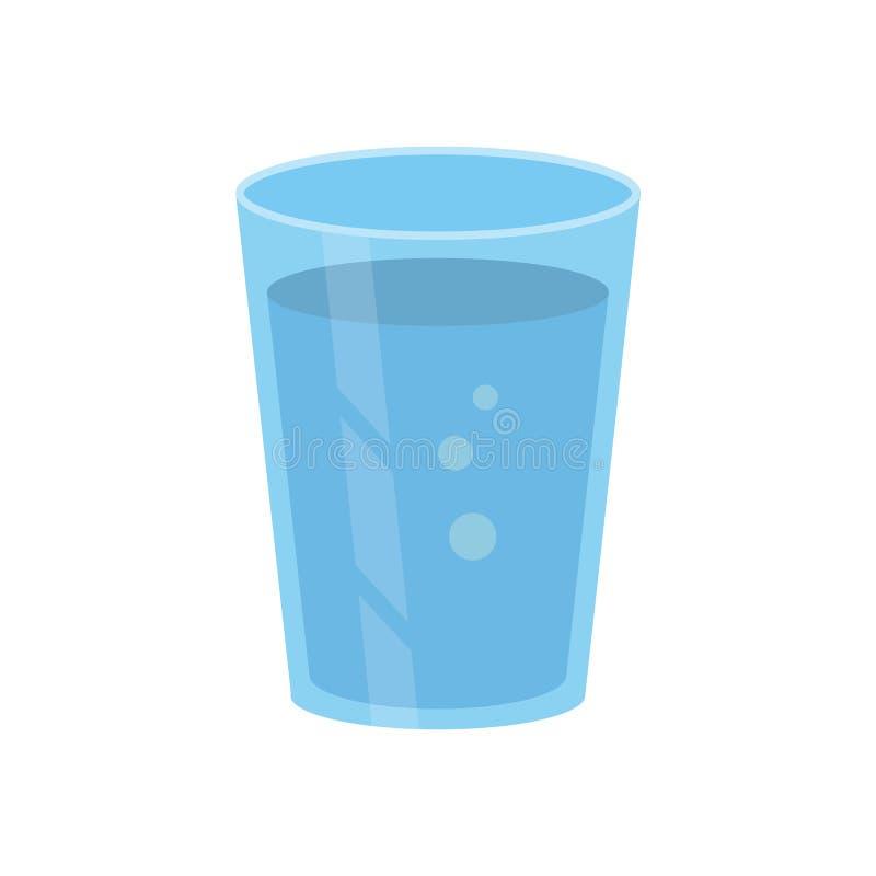 Vidrio de agua stock de ilustración
