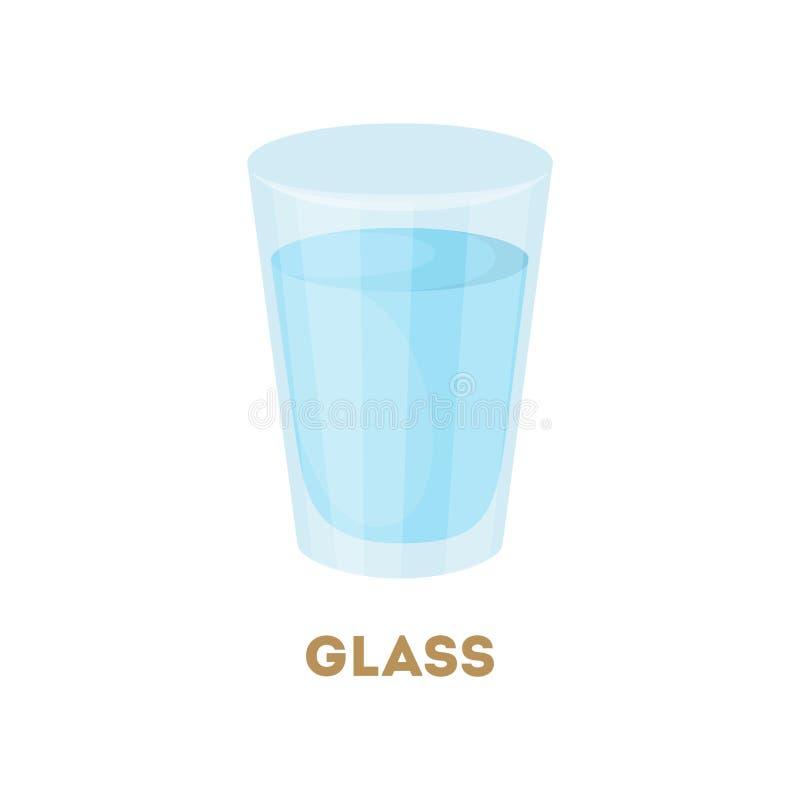 Vidrio de agua ilustración del vector