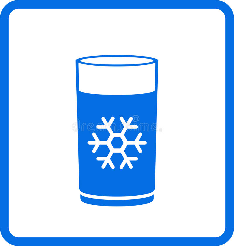 Vidrio de agua con el copo de nieve libre illustration