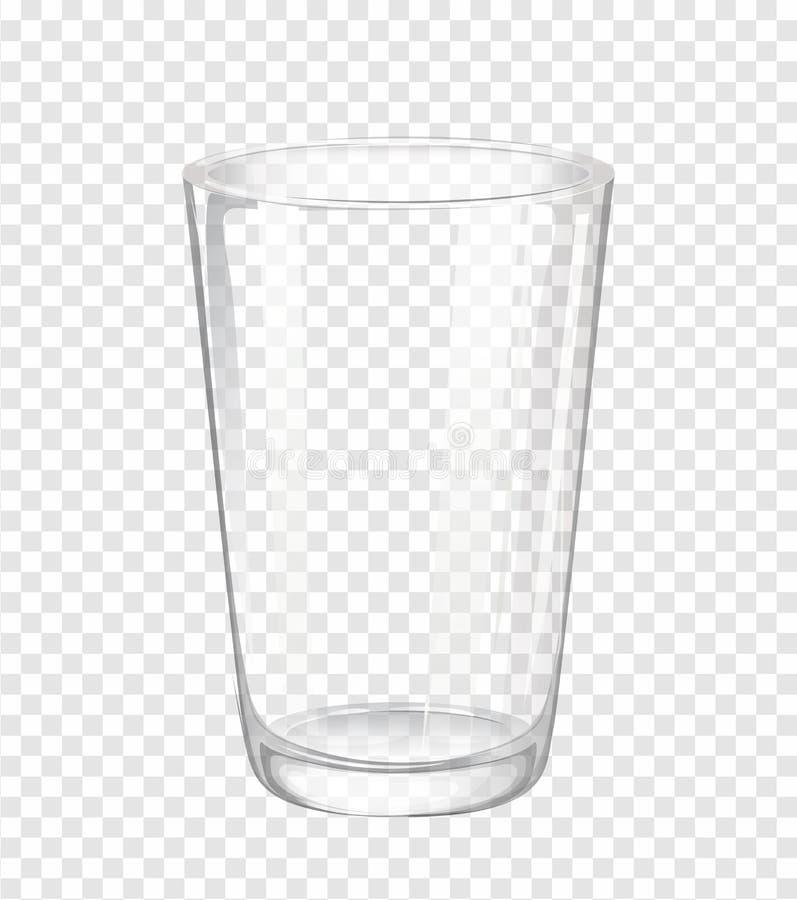 Vidrio de agua sin el agua stock de ilustración