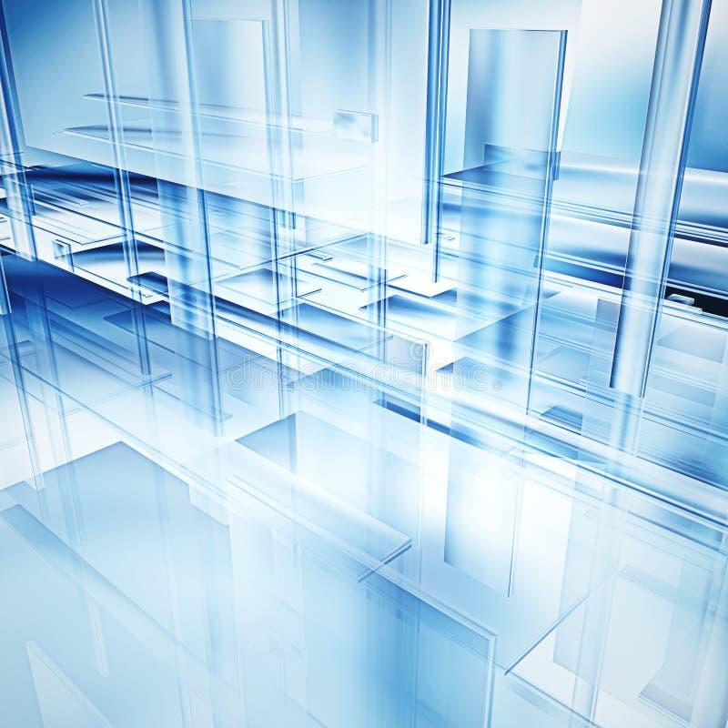 Vidrio de alta tecnología ilustración del vector