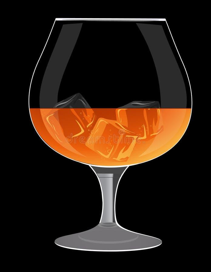 Vidrio de brandy stock de ilustración