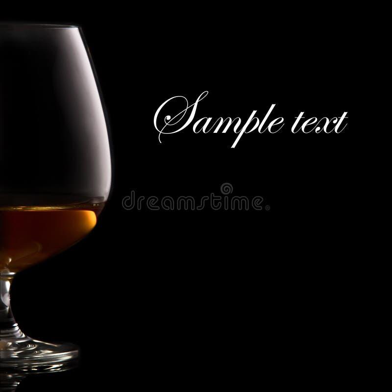 Vidrio de brandy foto de archivo