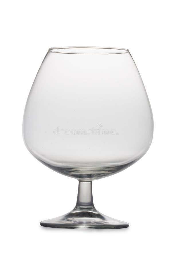 Vidrio de brandy vacío foto de archivo libre de regalías