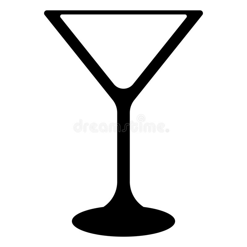 Vidrio de cóctel de Martini libre illustration