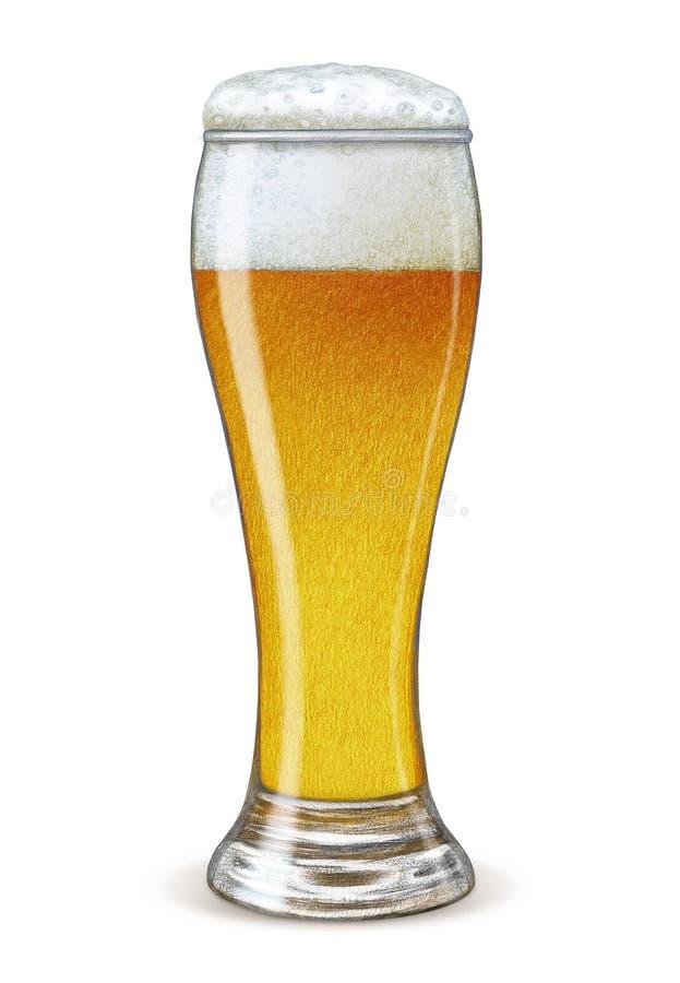 Vidrio de cerveza ilustración del vector