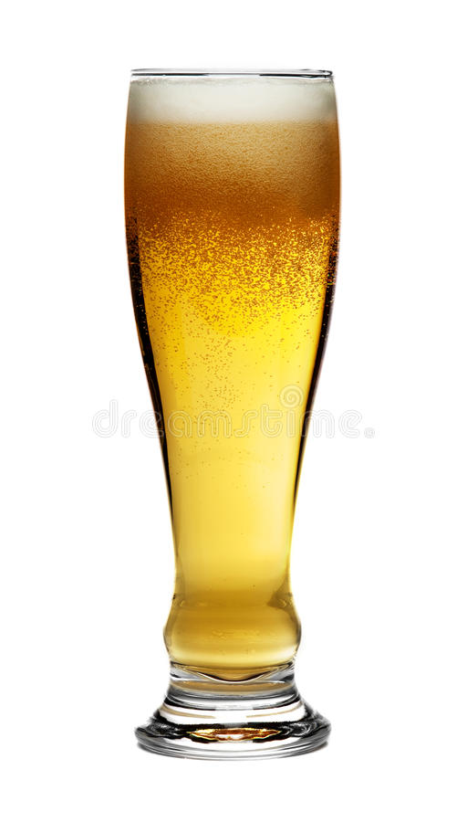 Vidrio de cerveza aislado fotos de archivo libres de regalías