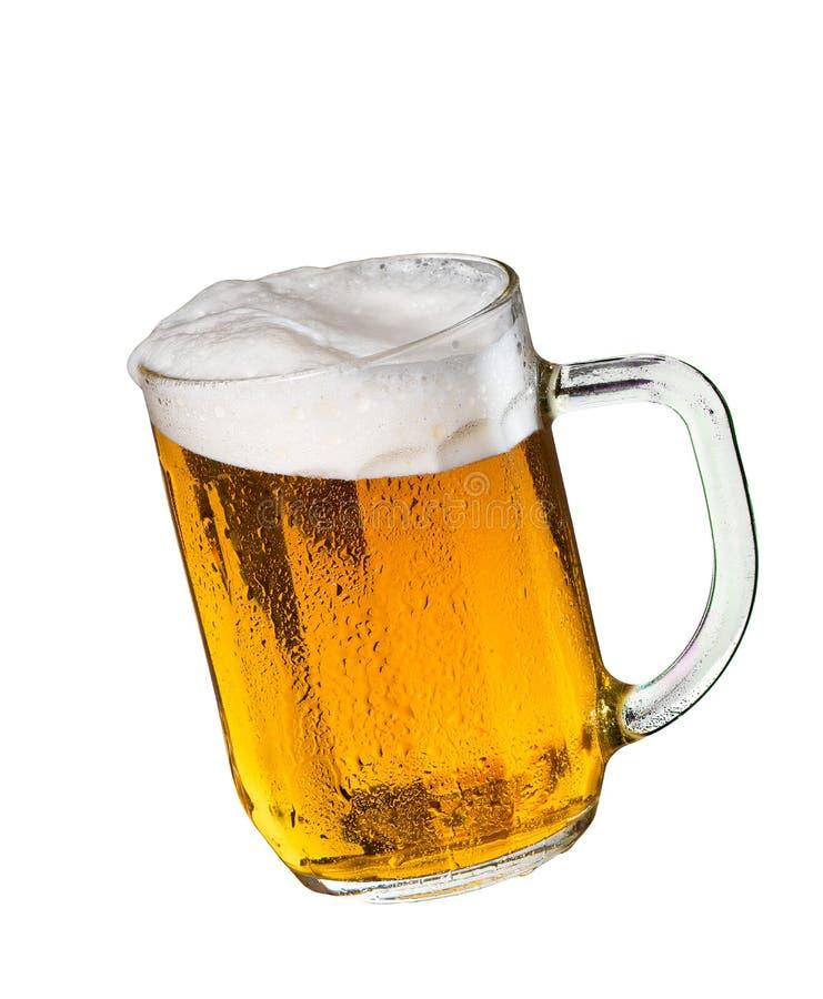 Vidrio de cerveza aislado fotografía de archivo libre de regalías