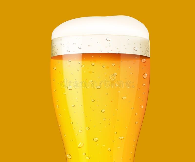 Download Vidrio De Cerveza En El Fondo Blanco Ilustración del Vector - Ilustración de taza, fondo: 100526022