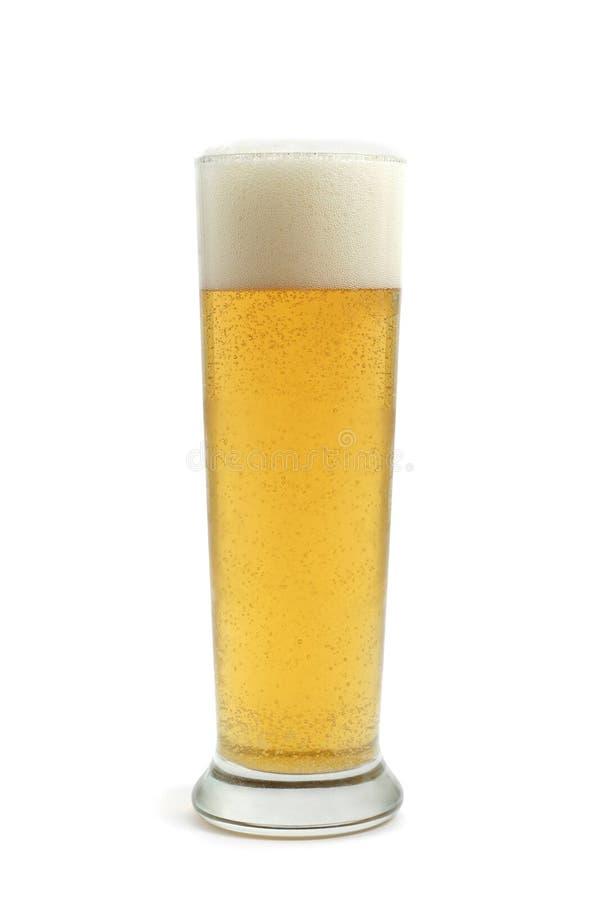 Vidrio de cerveza ligera fría fotos de archivo