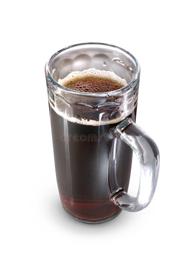 Vidrio de cerveza oscura imagenes de archivo