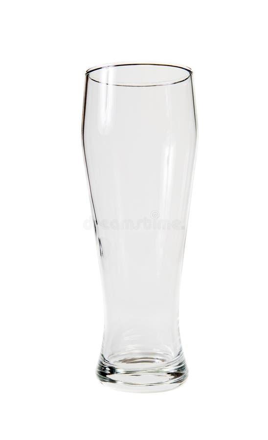 Vidrio de cerveza vacío foto de archivo