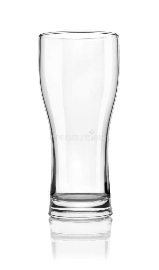 Vidrio de cerveza vacío imagen de archivo libre de regalías