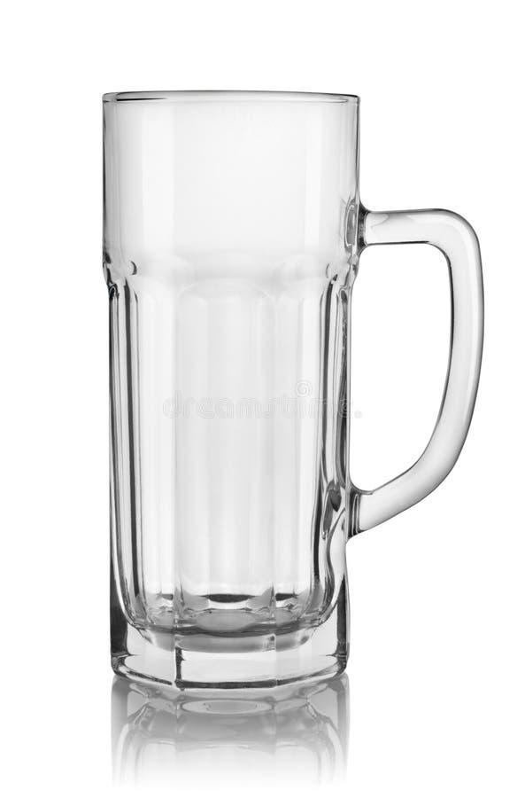 Vidrio de cerveza vacío aislado imágenes de archivo libres de regalías