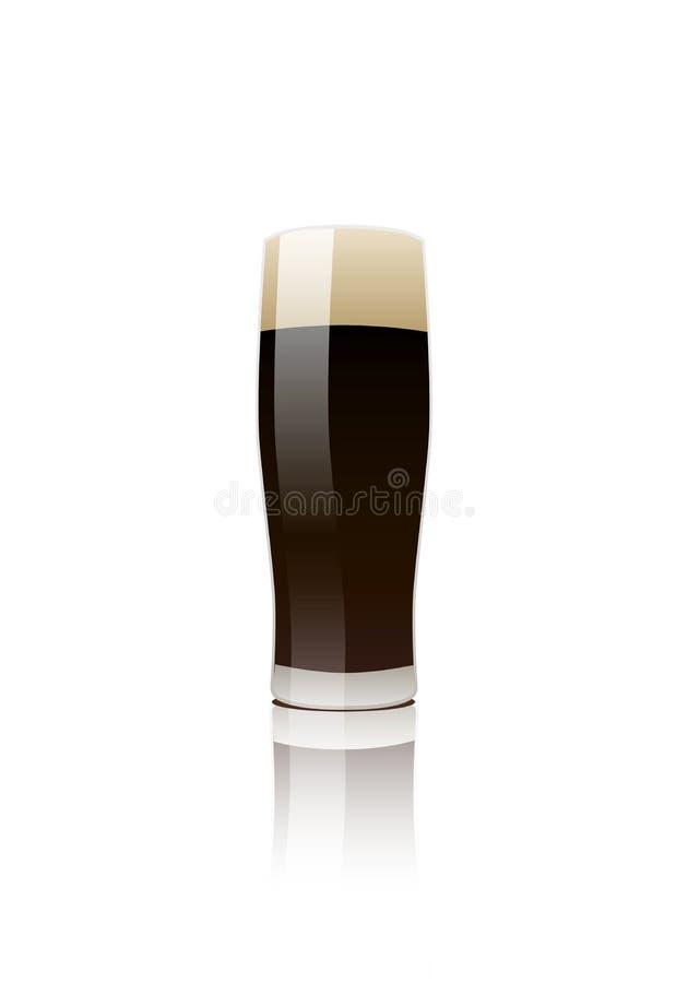 Vidrio de cerveza valiente stock de ilustración