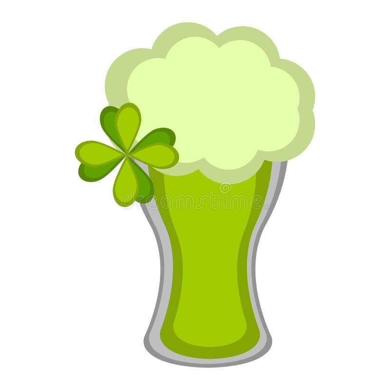 Vidrio de cerveza verde aislado libre illustration