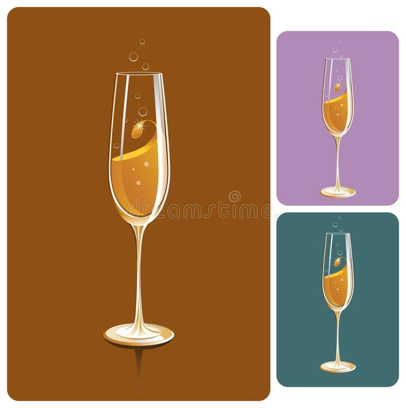 Vidrio de Champán stock de ilustración