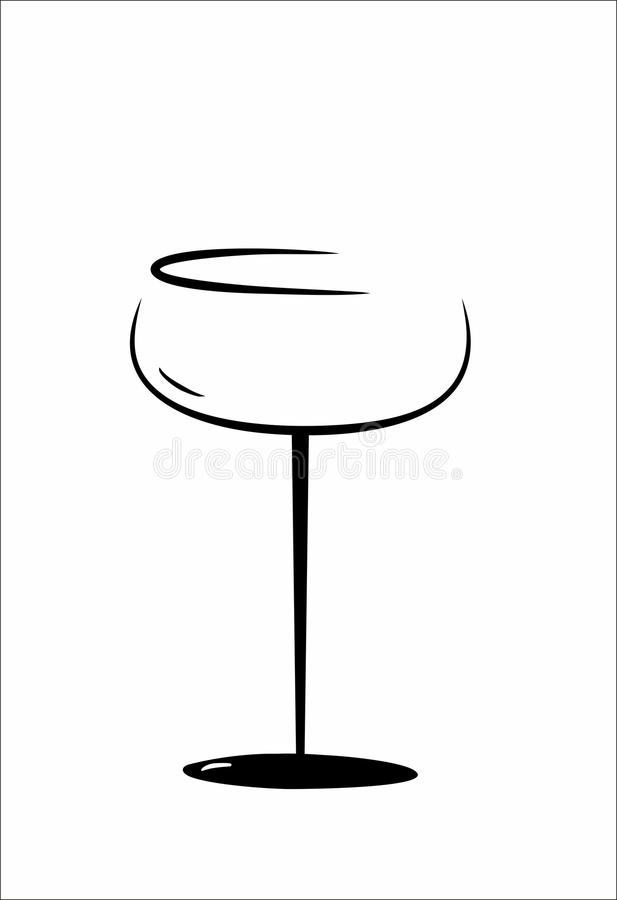 Vidrio de Champán aislado stock de ilustración