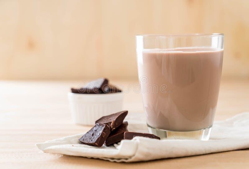 Vidrio de chocolate caliente foto de archivo libre de regalías