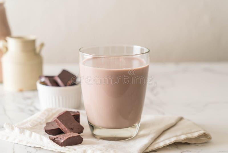 Vidrio de chocolate caliente foto de archivo