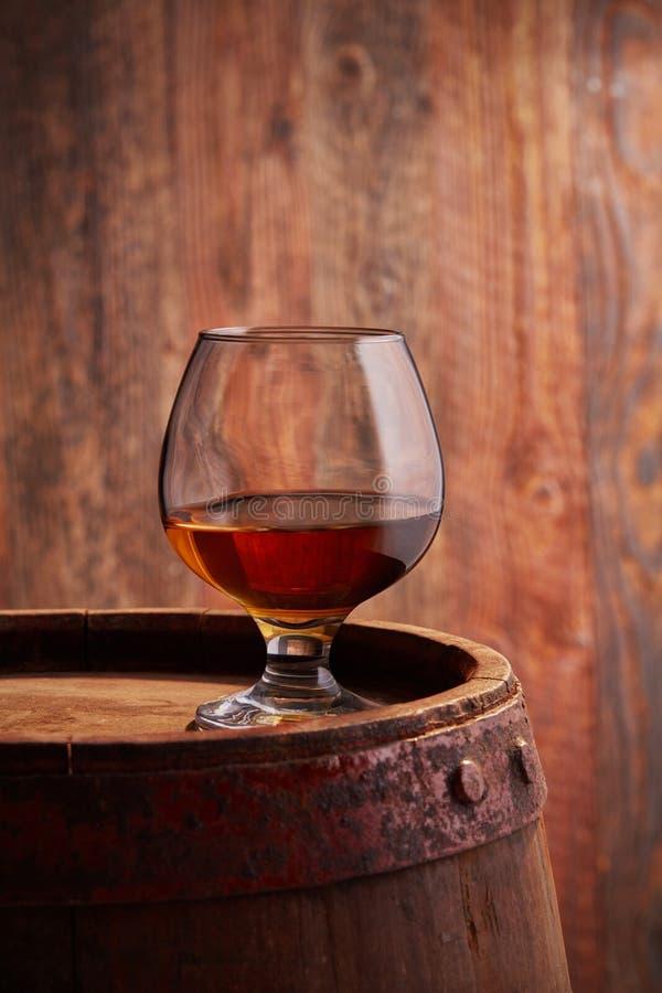 Vidrio de cognac fotografía de archivo