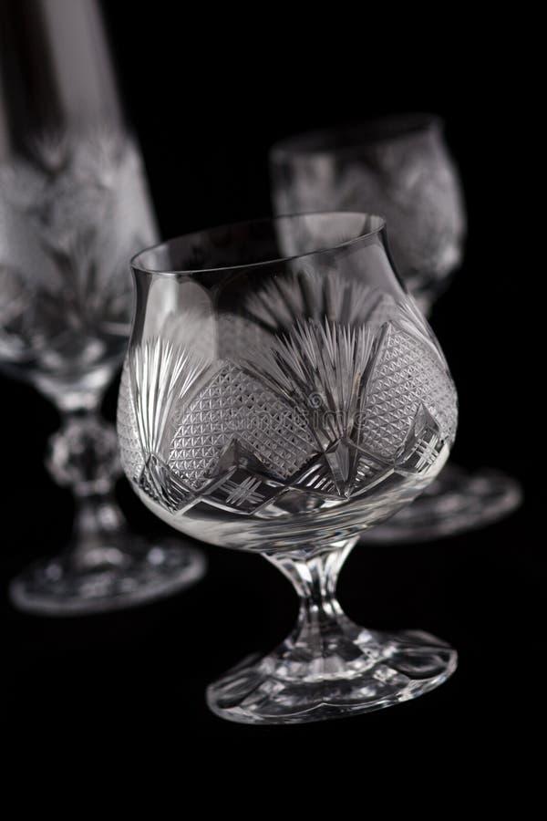 Vidrio de corte cristalino foto de archivo