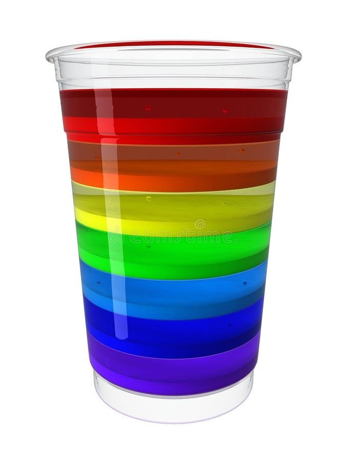 Vidrio de jalea del arco iris fotografía de archivo