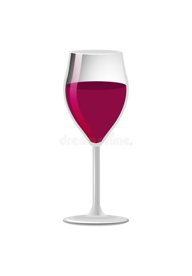 Vidrio de la bebida clásica del alcohol del vino rojo de la élite libre illustration