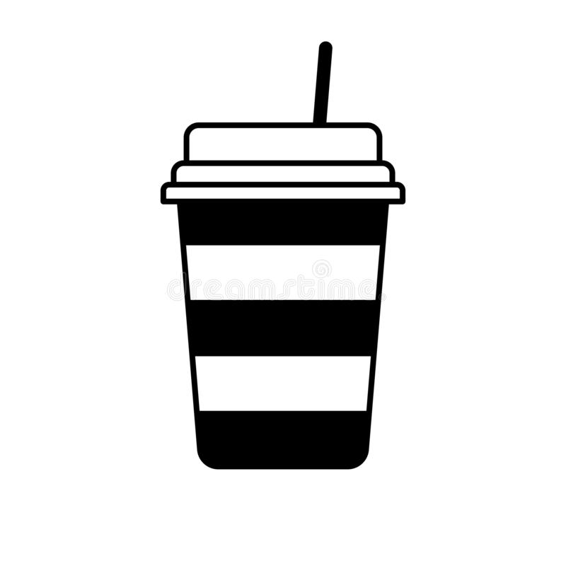 Vidrio de la bebida stock de ilustración