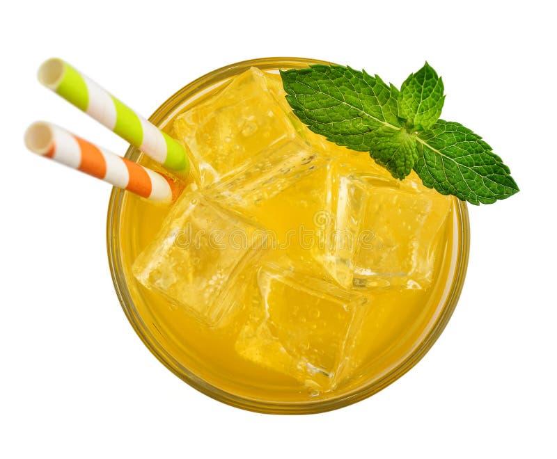 Vidrio de la bebida de la soda anaranjada fotografía de archivo libre de regalías