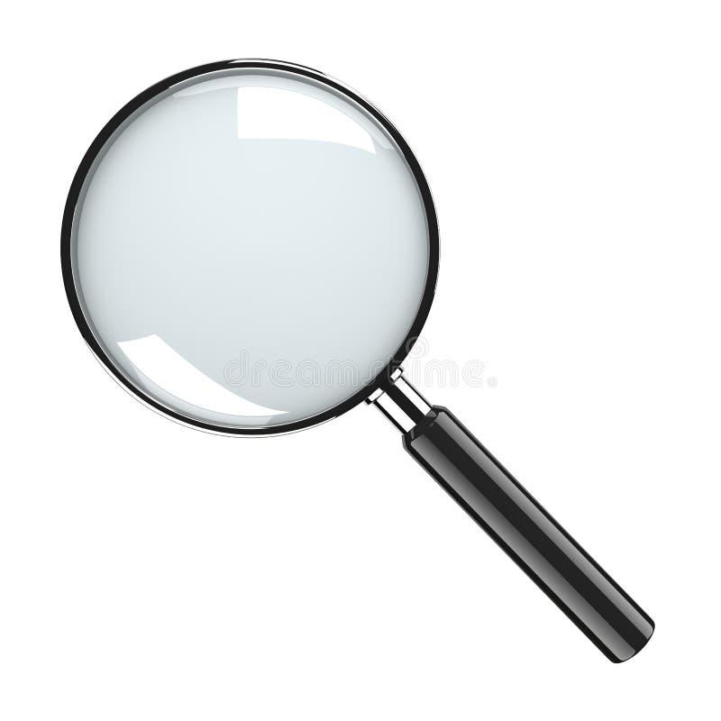 Vidrio de la lupa imagenes de archivo