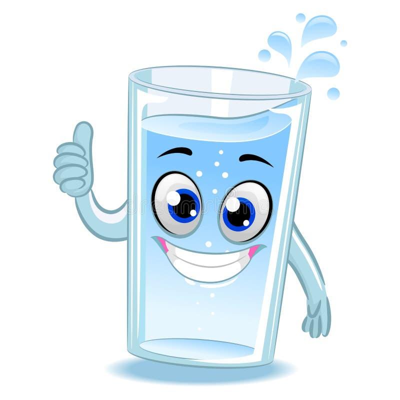 Vidrio de la mascota del agua que hace la muestra aceptable de la mano stock de ilustración