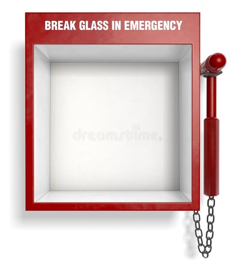 Vidrio de la rotura en emergencia imagenes de archivo