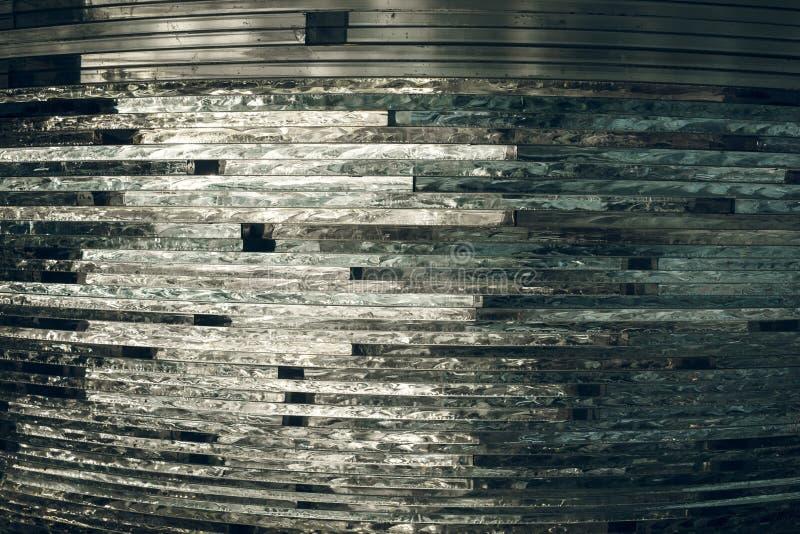 Vidrio de la textura mosaico La composición del vidrio stock de ilustración