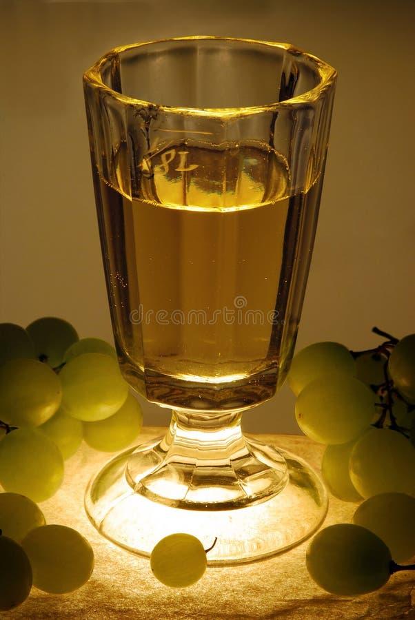 Vidrio de la vendimia con el vino imágenes de archivo libres de regalías