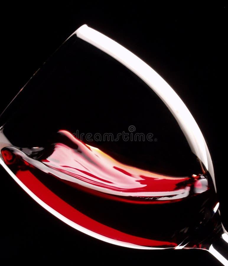 Vidrio de la vid roja imagenes de archivo