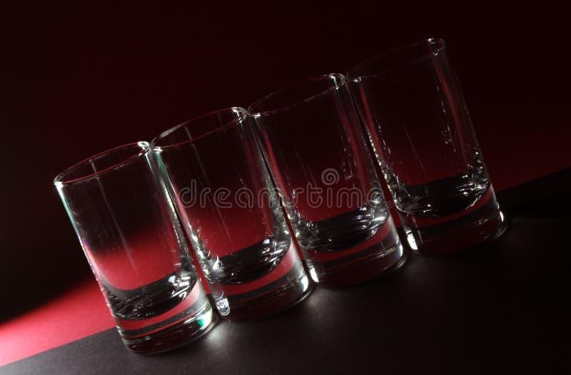 Vidrio de la vodka fotografía de archivo