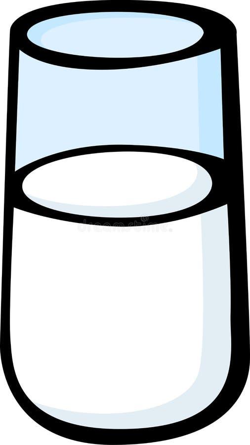 Vidrio de leche stock de ilustración
