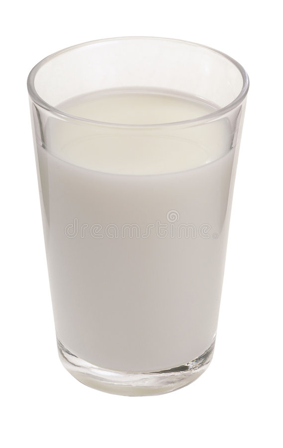 Vidrio de leche imagen de archivo
