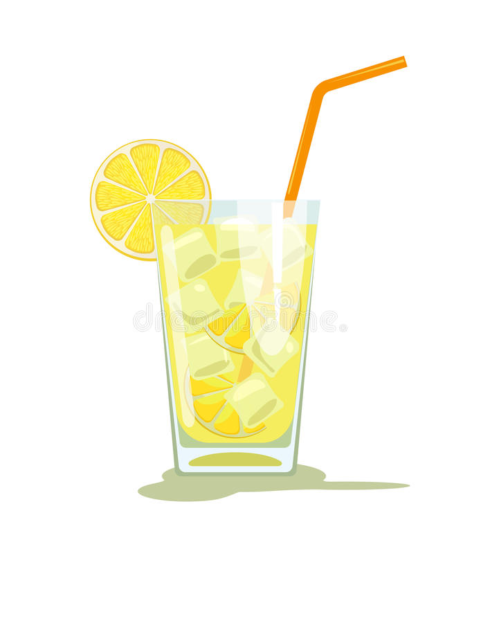 Vidrio de limonada stock de ilustración