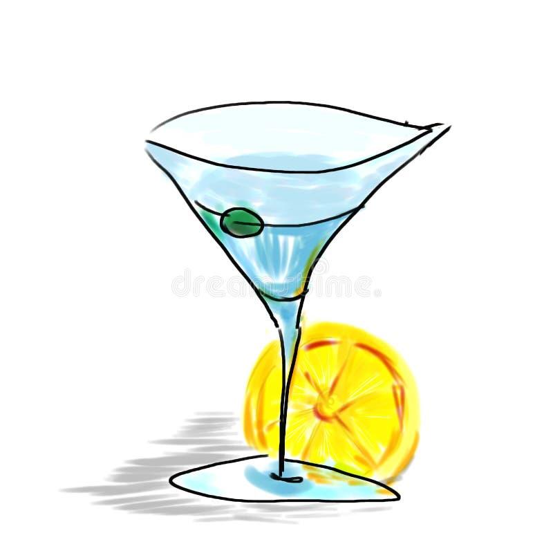 Vidrio de Martini ilustración del vector