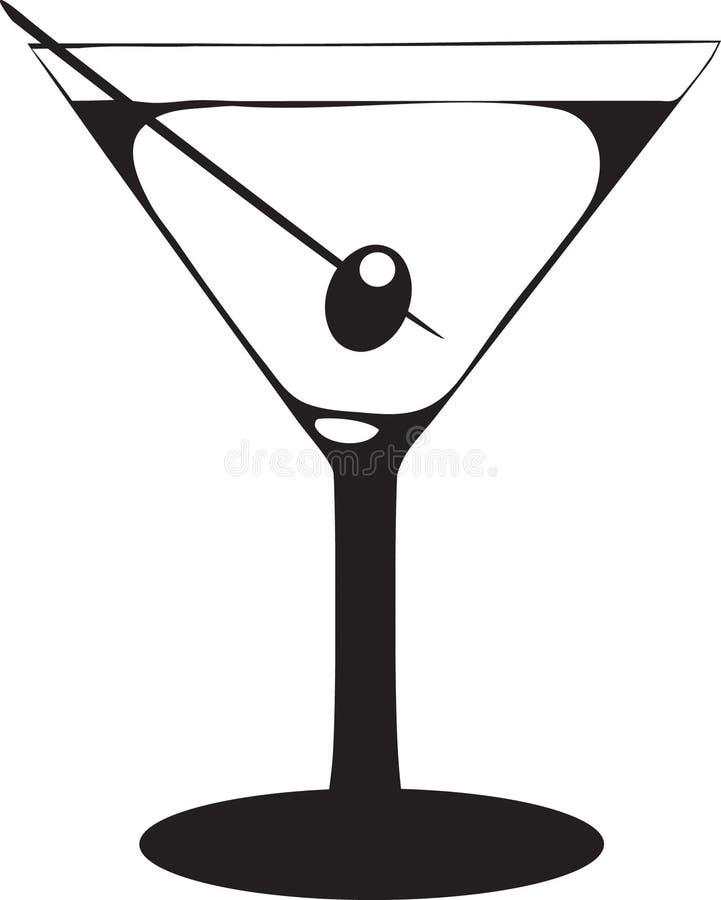 Vidrio de Martini con la aceituna libre illustration