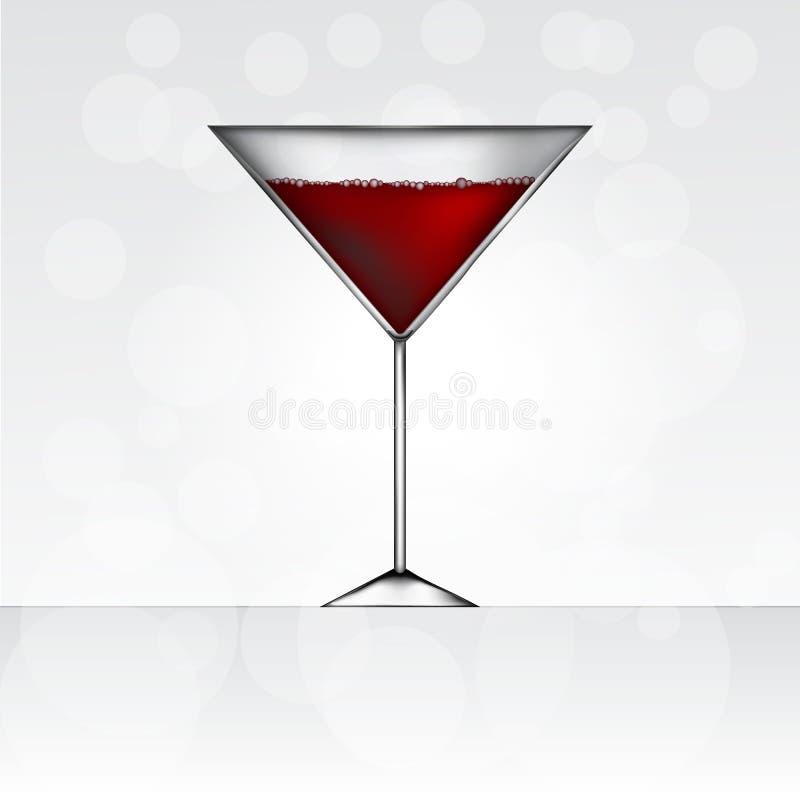 Vidrio de martini rojo ilustración del vector