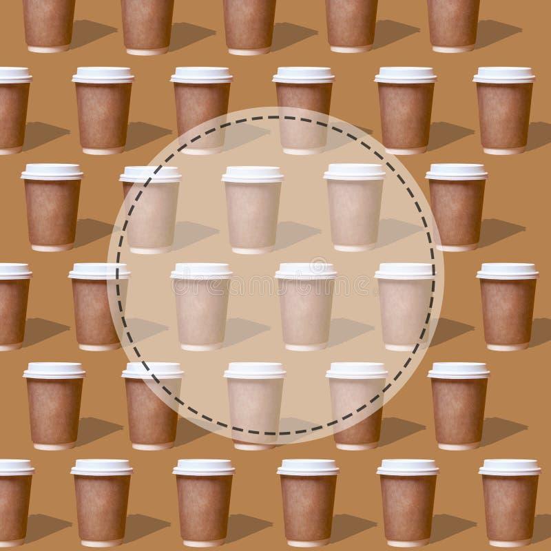 Vidrio de modelos duplicado de caf? fotos de archivo